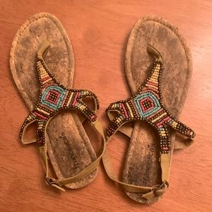 Francesca's Aztec sandals